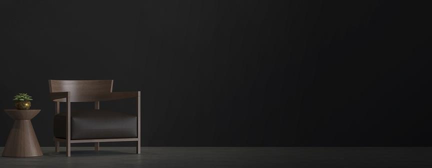 chair on dark background